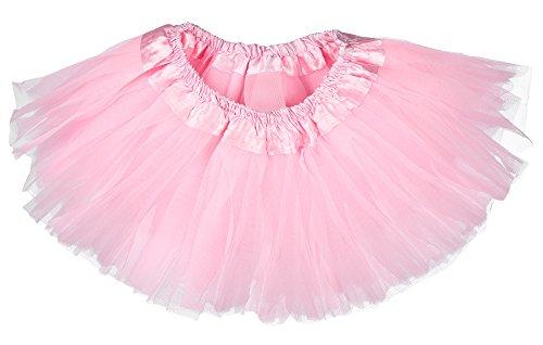 Pink Panther Dance Costume (Dancina Tutu Cute Newborn Girl Little Ballerina Princess Dress Up Costume Skirt 0-5 months Pink)