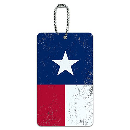Texas Distressed Luggage Suitcase Carry