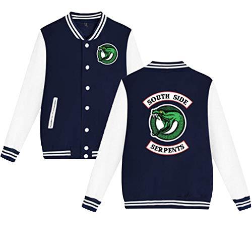 Riverdale Sweat da 07 Pullover Blazer Color Jacket Cardigan Serpent Top Blouson Manteau South Veste Side baseball 1xwqr1zC