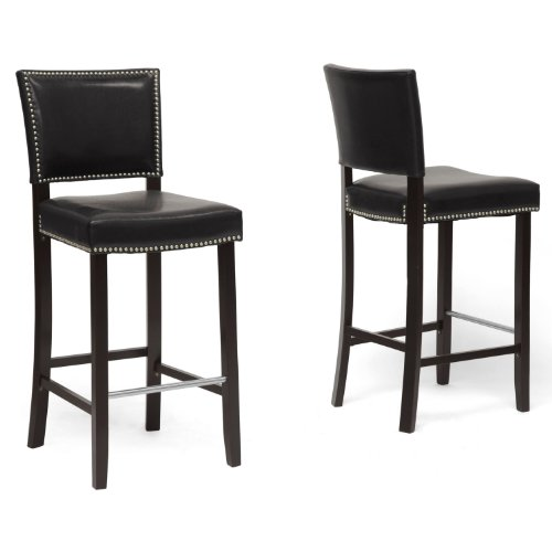 "Wholesale Interiors Aries 19"" Modern Bar-Height Stool with N"