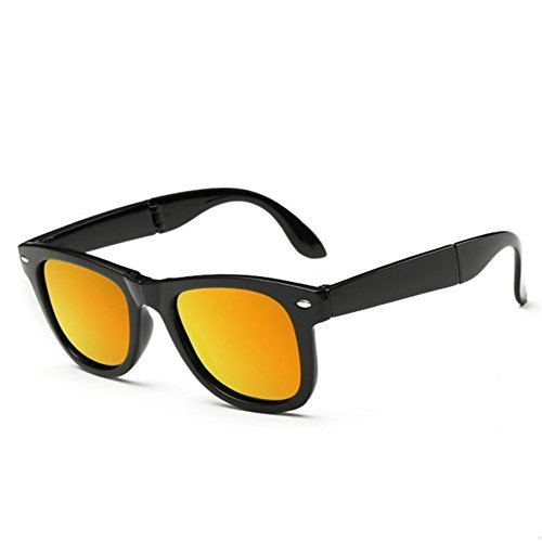 A-Royal Mens Fashion Cool Polarized Foldable Wayfarer Sunglasses(C6) Peppers Wrap Around Sunglasses