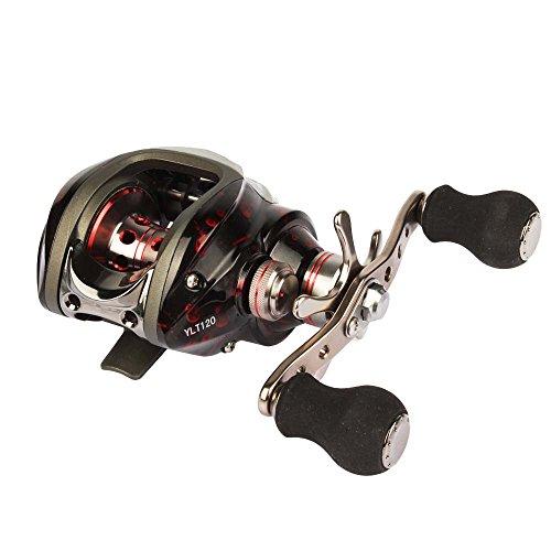 Goture Fishing Reel Baitcasting Bait Caster Reel 13+1 Bearings 210g Carp Fishing Gear Black Right Left Hand Bait Casting (A20046-left) For Sale