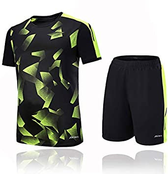 852efd191 Akilex Football Shirt + Shorts Mens Jersey Football kit 100% Polyester  Breathable Quick Dry Short Sleeve T-shirts Teamswear Sporting Tracksuits  Club Team ...