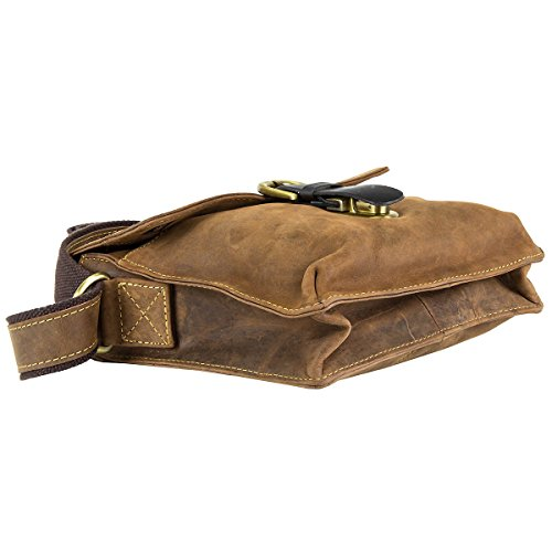 Greenburry Vintage borsa a tracolla pelle 22 cm brown Marrone