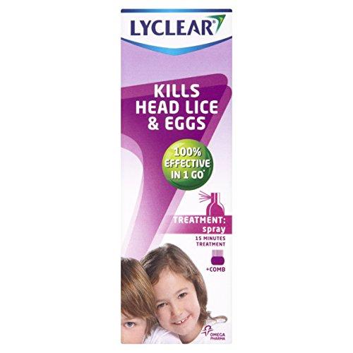 Lyclear kills Head Lice and eggs (Treatment Spray)