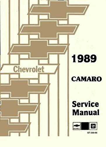 1989 CAMARO 2 VOL. SET FACTORY REPAIR SHOP & SERVICE MANUAL - INCLUDES; Standard Camaro, Sport Coupe, LT, RS, Z28, IROC-Z, Convertible - CHEVROLET (Cyclone Engine Oil)