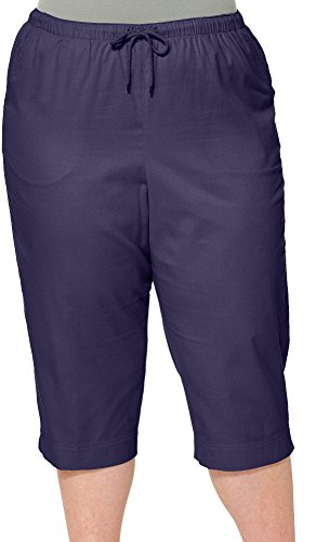 - Coral Bay Plus Pull On Drawstring Capris 2X Eclipse blue