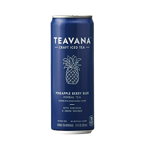 (Teavana Craft Iced Tea, Pineapple Berry Blue Herbal Tea, 12 fl. oz. Cans (Pack of 12))