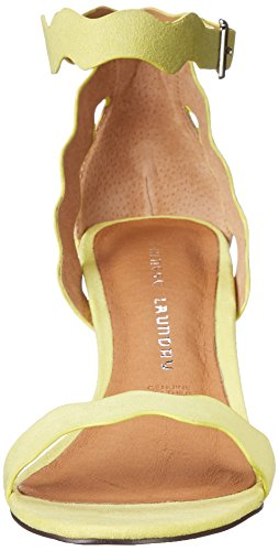 Sandalo In Pelle Di Camoscio Color Lime Per Donna