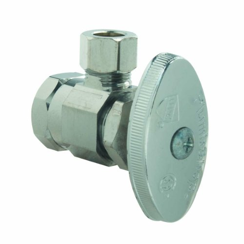 (BrassCraft Mfg PSB18X Shut off Valve FIP x Compression - Angle Chrome)