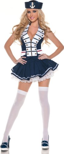 Mystery House Womens Halloween Party Sailor Costume Navy XL