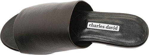 Charles Av Charles David Womens Skyve Sort Skinn