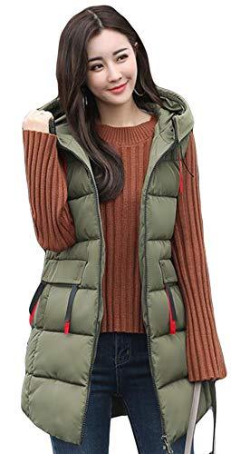 Alhyla レディース ダウンベスト レディース 秋 冬 ファッション 韓国風 ベスト 中綿ベスト 無地 スリム ロングスベスト
