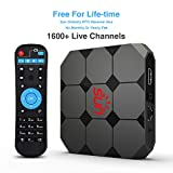 International IPTV Receiver Box 2019 Newest with Lifetime Subscription for 1500+ Global Live Channels Includes North American European Asian Arabic Indian Programs(2GB+16GB)