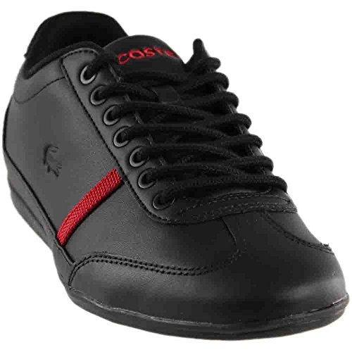 Lacoste Men's Misano-Sport-317 Black/Red Sneakers Shoes Sz: 9.5