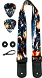 Kids Guitar Strap For Boys & Girls Space Bundle Includes 2 Strap Locks & 2 Matching Picks- For Electric & Acoustic First Act Discovery & Guitar Lovers. Holidays & Birthday Presents