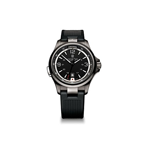 - Victorinox Men's 241596 Night Vision Stainless Steel Watch with Black Rubber Band
