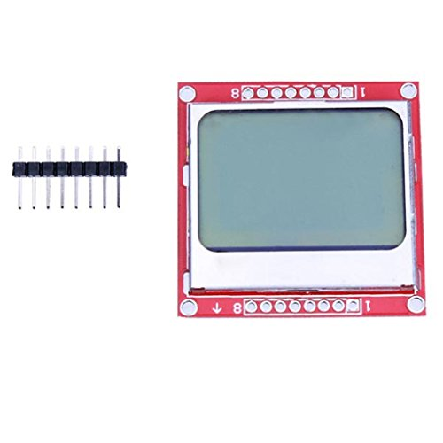 - DAOKI 84X48 Nokia 5110 LCD Display Module blue backlight with PCB adapter for Arduino