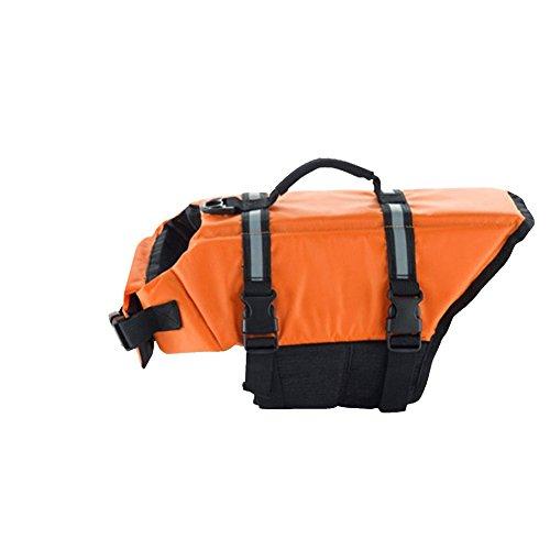 Gtpeak Dog Life Jacket Swimming Vest Saver with professional Flotation Device Reflective Stripe Adjustable Elastic Band Easy Grabbing Different Sizes by Gtpeak (Image #8)