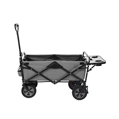 Mac Sports Collapsible Outdoor Utility Wagon with Folding Table and