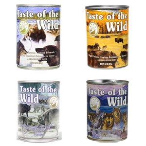 Taste of the Wild Grain-Free Canned Dog Food Variety Pack – Wetlands, Pacific Stream, High Prairie, and Sierra Mountain (Pack of 12, 13.2 oz cans), My Pet Supplies