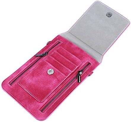 SEVENHOPE 小型 クロスボディバッグ 携帯電話 財布 カードホルダー ポーチ ストラップ付き 19.5*12.5cm DFGGJHK30