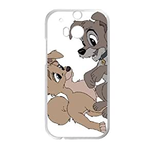 HTC One M8 Cell Phone Case Covers White Lady and the Tramp II Scamp's Adventure Character Angel Phone cover O7511295