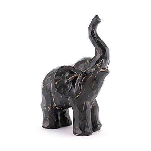 HomeRoots Décor 295593-OT Black Elephant Sculpture, Multicolor