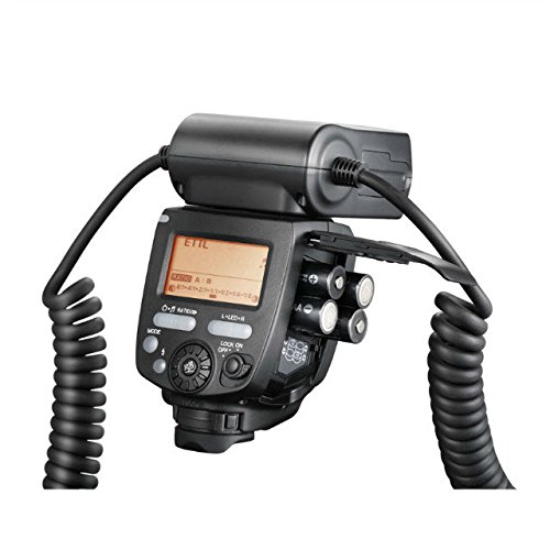 YONGNUO YN24EX TTL Macro Ring Flash/ LED Macro Flash Speedlite with 2 PCS Flash Head and 4 PCS Adapter Rings for Canon