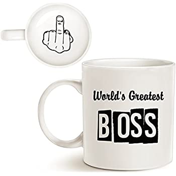 ecfa8c3e14c MAUAG Funny Best Boss Office Coffee Mug for Bosses Day, World's Greatest  Boss Unique Present Idea for Boss Manager Cup White, 11 Oz