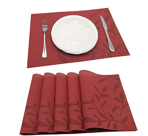 Amazon Com Tennove Table Mats Set Of 6 Washable