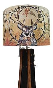 Dawn Maciocia 'Golden Monarch' Scottish Highland Stag Soft Lamp Light Shade