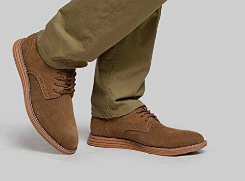 Gleader Nouvelles Chaussures En Daim Cuir Oxfords Hommes De Style Européen Occasionnel 999 Tan Clair (taille 40) d84zTUEZ