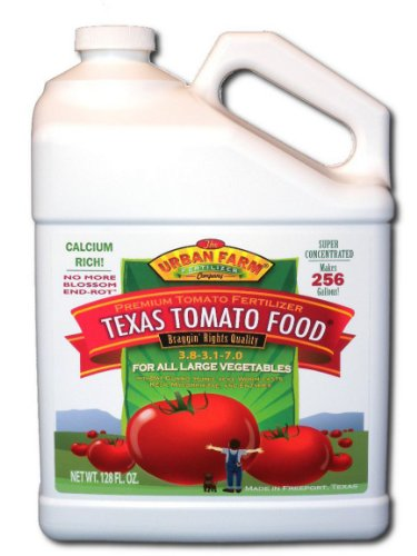Urban Farm Fertilizers Texas Tomato Food, Competition Tomato Fertilizer, 1 Gallon - Liquid Tomato