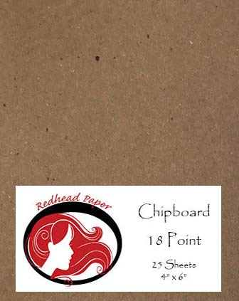 25 Sheets Chipboard 18 Point (4 X 6 inches)