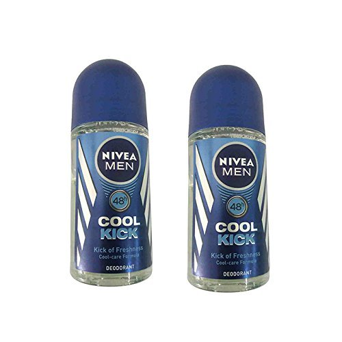 2 Lots X Nivea Deo Cool Kick Roll On, 50 ml