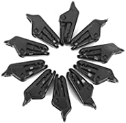 10 x Awning Clamp Tarp Clips Snap Hangers Tent Camping Survival Tighten Tool