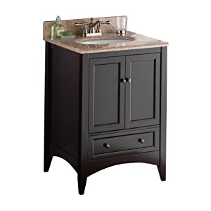 Foremost beca2421d berkshire 24 inch espresso bathroom vanity vanity sinks - Foremost berkshire espresso bathroom wall cabinet ...