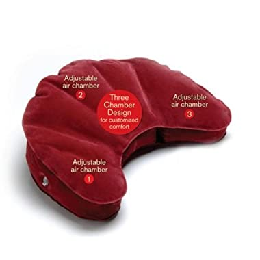 Mobile Meditator Inflatable Meditation Cushion and Travel Pillow - Maroon