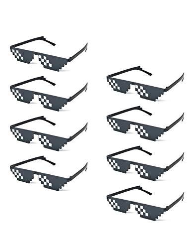 Onnea fashion 8 Pack Thug Life Pixelated Mosaic Party Favors Unisex Sunglasses (8-Pack ()