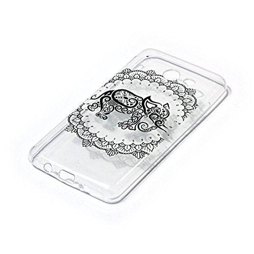CaseHome Samsung Galaxy J7 2017 gel de Silicona TPU Funda (Con Gratis Lápiz táctil) Guay ModaVistosoPatrónDiseñoCristalClaro Ultra FinoTransparenteEncaja PerfectoFlexibleSuaveCauchoParachoq Mandala Elefante