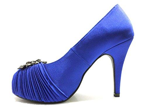 At389 Moda Blu Da Campi Raso Eu Strass Alta Donna Di 36 Di Scarpe ZHqagw