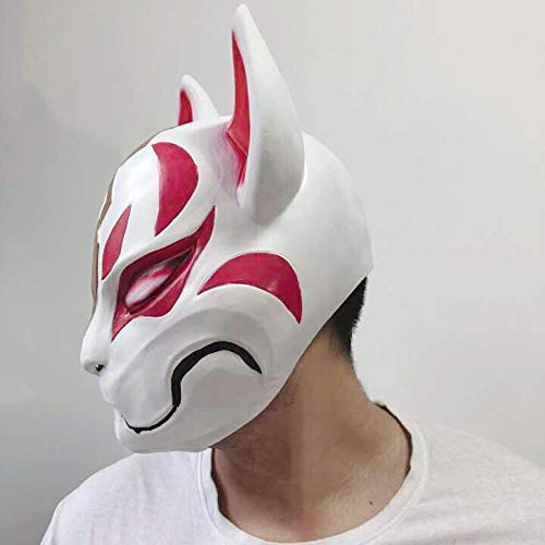 Fortnite Fox Mask Helmet Halloween Cosplay Season Natural Latex