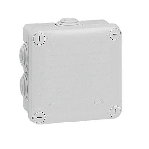 Legrand LEG92022 Boîte carrée 105 x 105 x 55 étanche plexo Gris