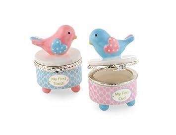 Amazon.com : Diente y Curl cajas de joyas, pequeño polluelo (descatalogados por el Fabricante) : Baby