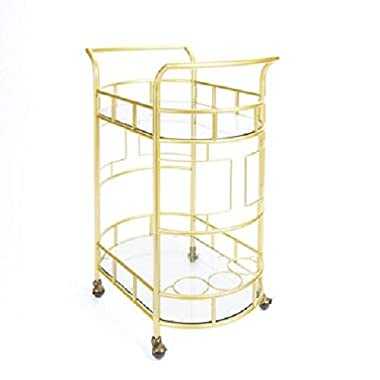 Sinclair 2-tier Serving Cart in Gold By Silverwood