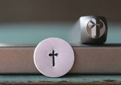 Jewelry Designs Religious - 5mm Religious Traditional Cross Metal Punch Design Jewelry Stamp