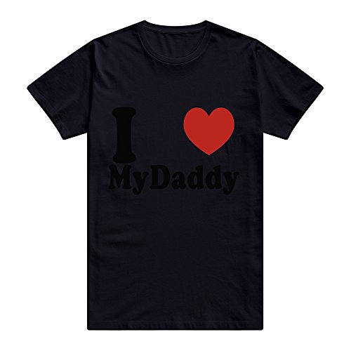 Alive Husky (CUAUNED I Love MY Daddy T-shirt For Men - L Black Crazy Roundneck Black T Shirts)
