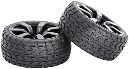 RCカー用 ゴムタイヤ 1/10スケールドリフトカー用 ハブホイールリム ラバータイヤ 交換部品