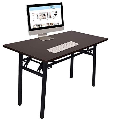(Gplveoq Multifunctional Portable Folding Computer Desk,Simple Learning Conference Desk,Computer Desk Portable Table)